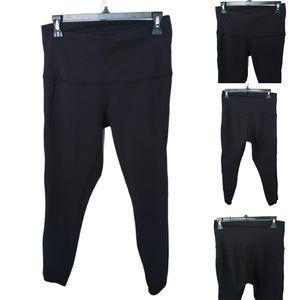 Lululemon Crop Capri Black Mesh Leggings Tights 10